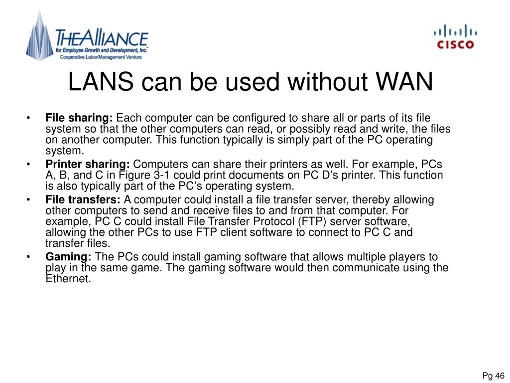 LANS can be used without WAN