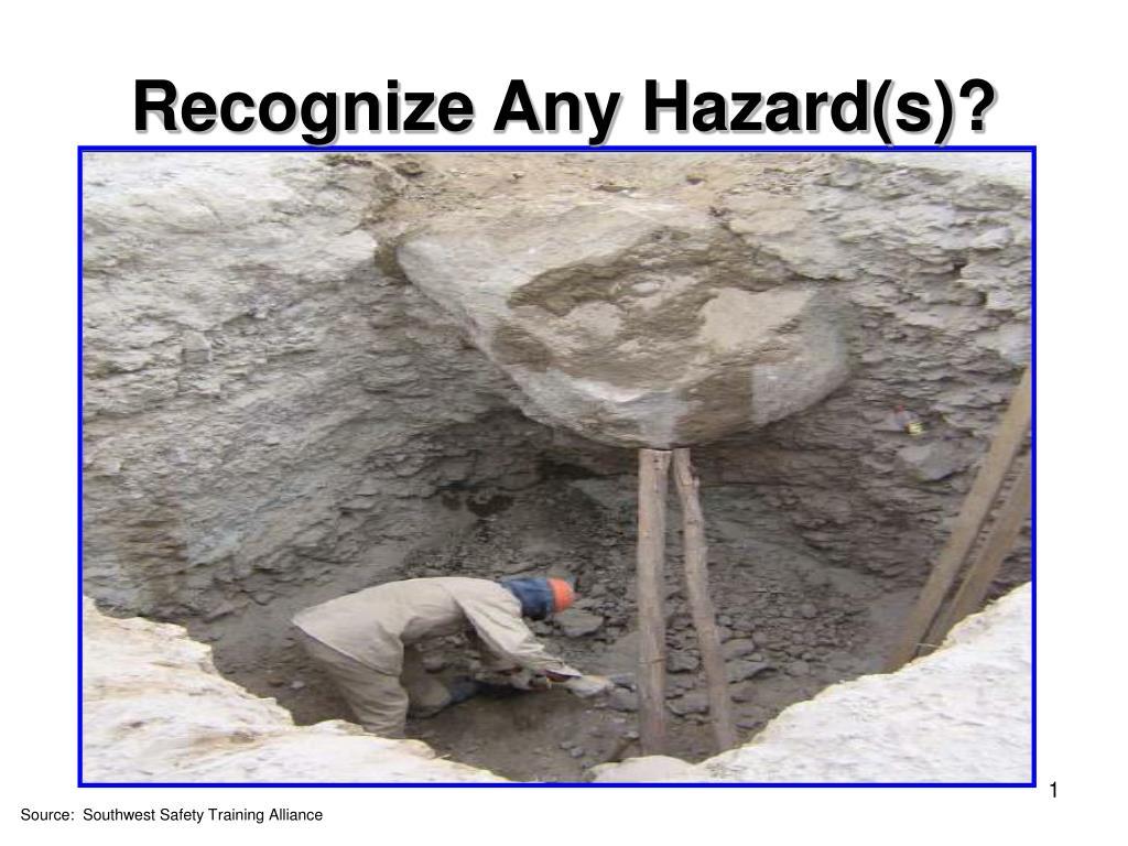 recognize any hazard s l.