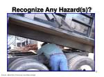recognize any hazard s11