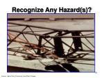 recognize any hazard s15
