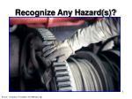 recognize any hazard s7