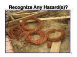 recognize any hazard s5