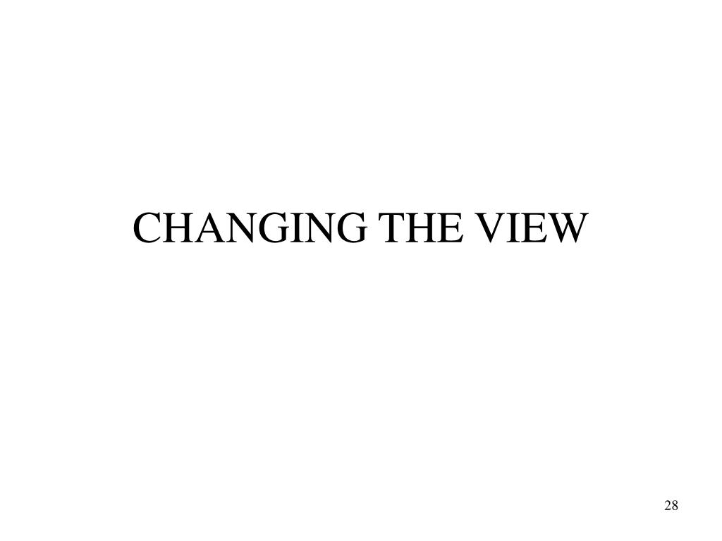 CHANGING THE VIEW