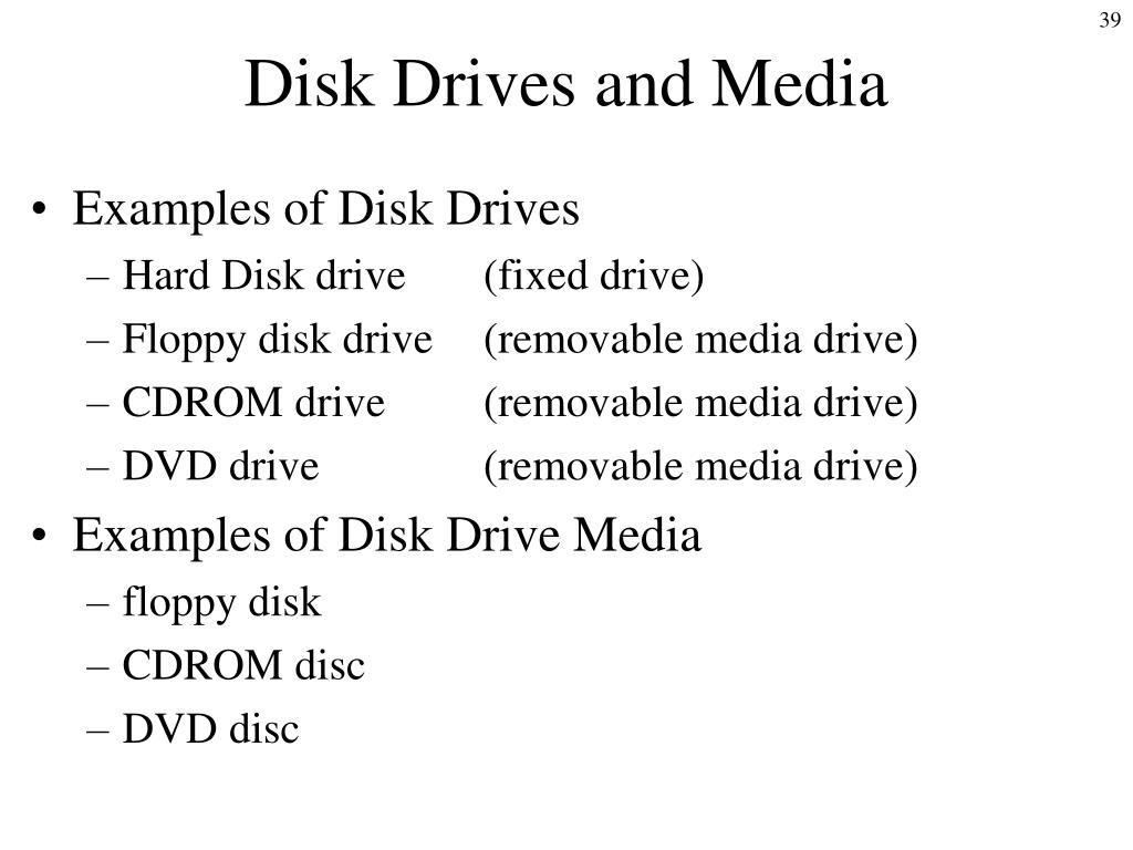 Disk Drives and Media
