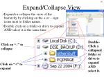 expand collapse view