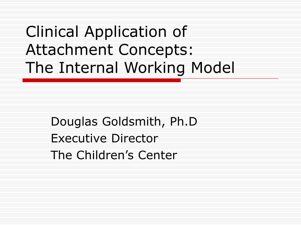 clinical application of attachment concepts the internal working model l.