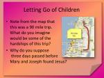 letting go of children
