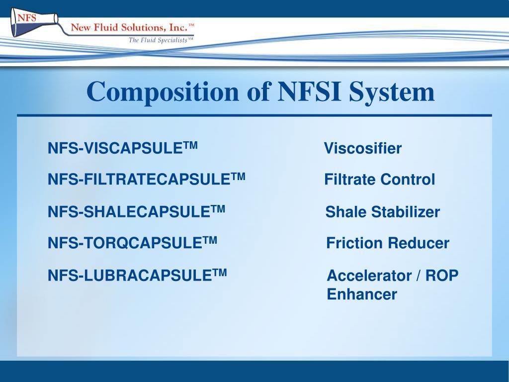 Composition of NFSI System