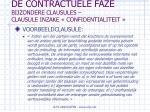 de contractuele faze bijzondere clausules clausule inzake confidentialiteit66