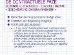de contractuele faze bijzondere clausules clausule inzake goedkeuring onderaannemers