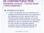de contractuele faze bijzondere clausules clausule inzake onsplitsbaarheid