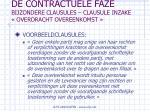 de contractuele faze bijzondere clausules clausule inzake overdracht overeenkomst73