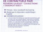 de contractuele faze bijzondere clausules clausule inzake overdracht risico