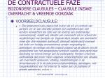 de contractuele faze bijzondere clausules clausule inzake overmacht vreemde oorzaak49