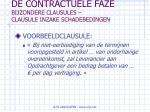 de contractuele faze bijzondere clausules clausule inzake schadebedingen53
