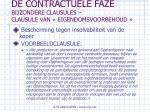 de contractuele faze bijzondere clausules clausule van eigendomsvoorbehoud