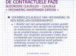 de contractuele faze bijzondere clausules clausule vrijwaring aanspraken derden79