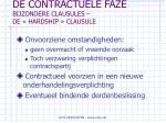 de contractuele faze bijzondere clausules de hardship clausule