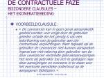 de contractuele faze bijzondere clausules het exoneratiebeding47