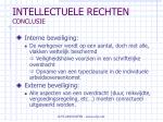 intellectuele rechten conclusie