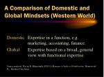 a comparison of domestic and global mindsets western world