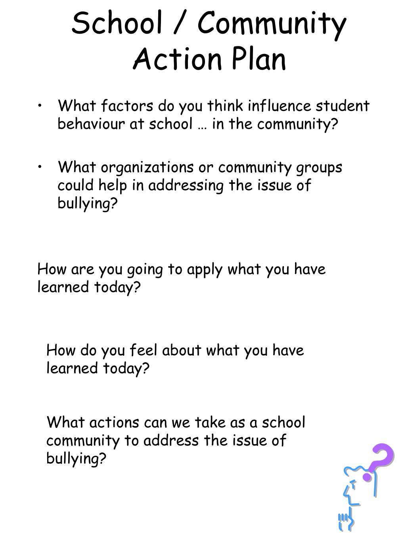 School / Community Action Plan