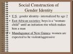 social construction of gender identity