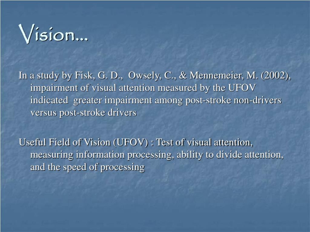 Vision…