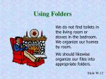 using folders