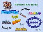windows key terms