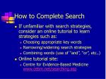 how to complete search