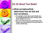 it s all about your brain