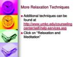 more relaxation techniques