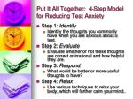put it all together 4 step model for reducing test anxiety