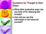 questions for thought next steps