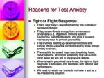 reasons for test anxiety