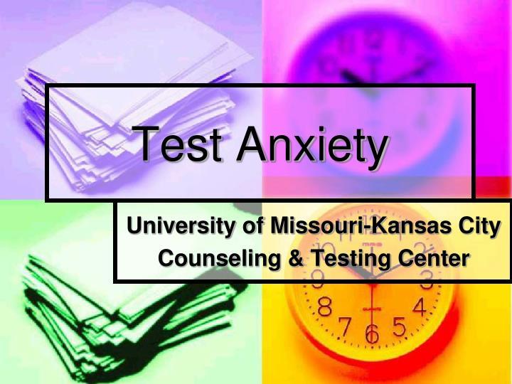test anxiety n.