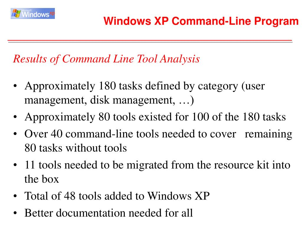 Windows XP Command-Line Program