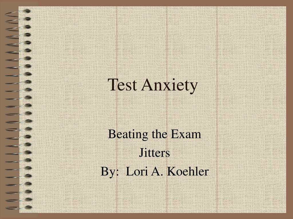 test anxiety l.