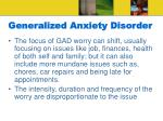 generalized anxiety disorder14