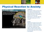 physical reaction to anxiety23