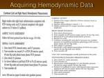 acquiring hemodynamic data24