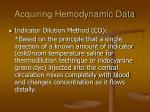 acquiring hemodynamic data25