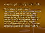 acquiring hemodynamic data26