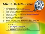 activity 3 digital storytelling