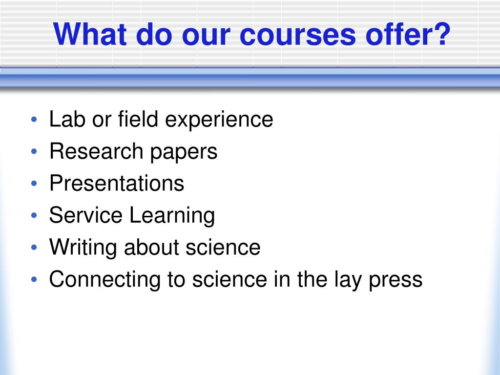 What do our courses offer?
