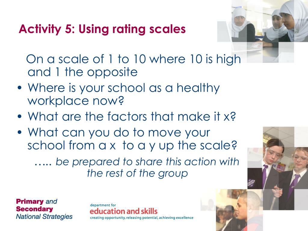 Activity 5: Using rating scales