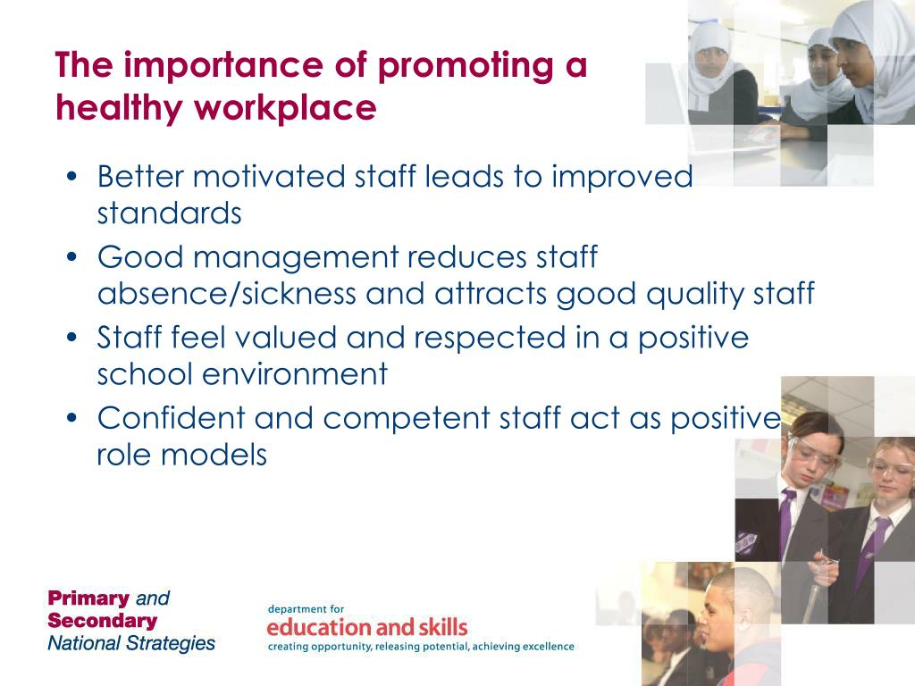 The importance of promoting a healthy workplace