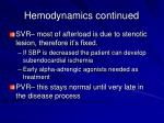 hemodynamics continued47
