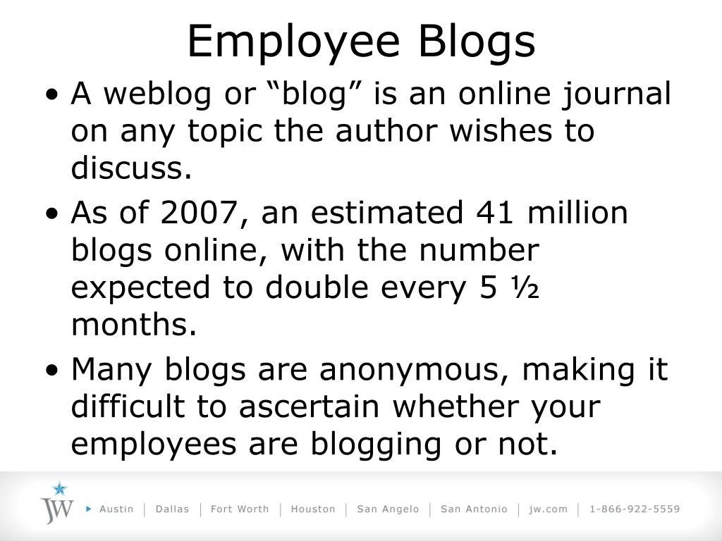 Employee Blogs